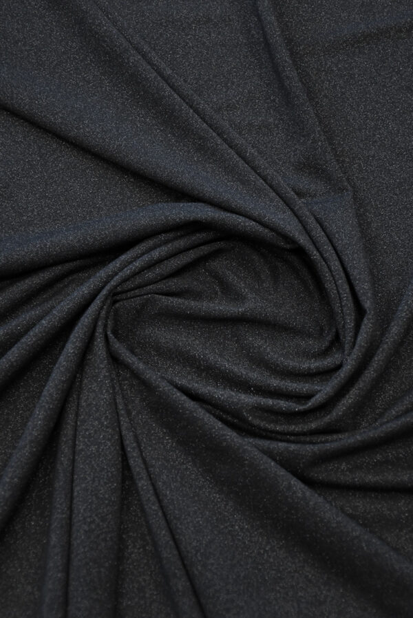 Трикотаж черный с люрексом (10262) - Фото 7