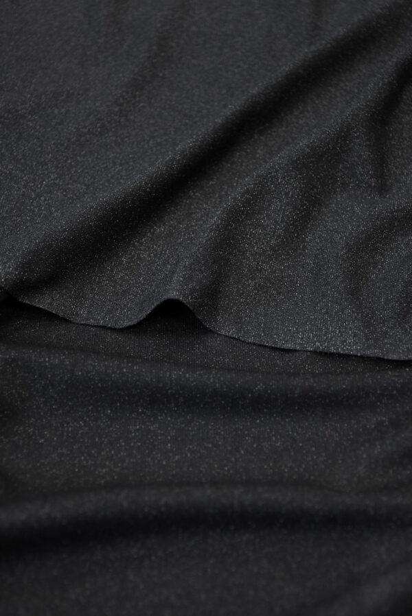 Трикотаж черный с люрексом (10262) - Фото 9