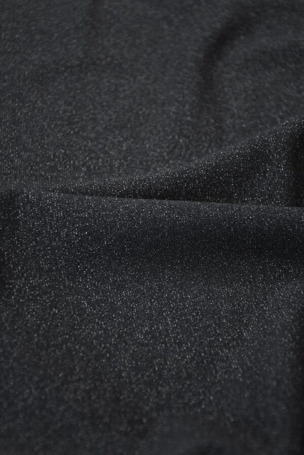 Трикотаж черный с люрексом (10262) - Фото 10