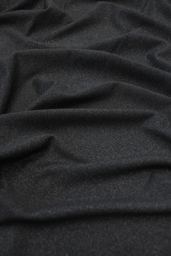 Трикотаж черный с люрексом (10262) - Фото 6
