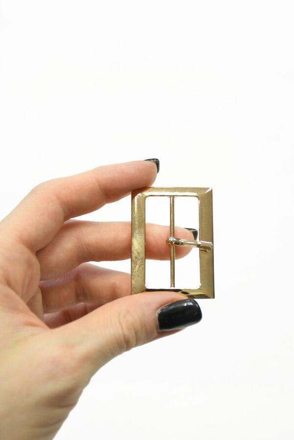 Пряжка металл золото с одним язычком 1
