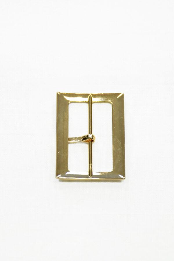 Пряжка металл золото с одним язычком 2