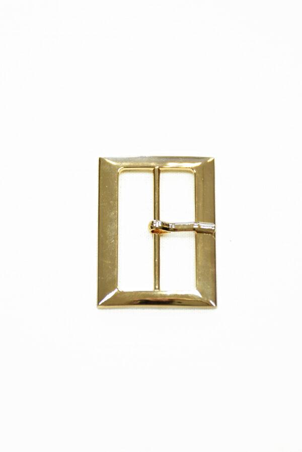 Пряжка металл золото с одним язычком