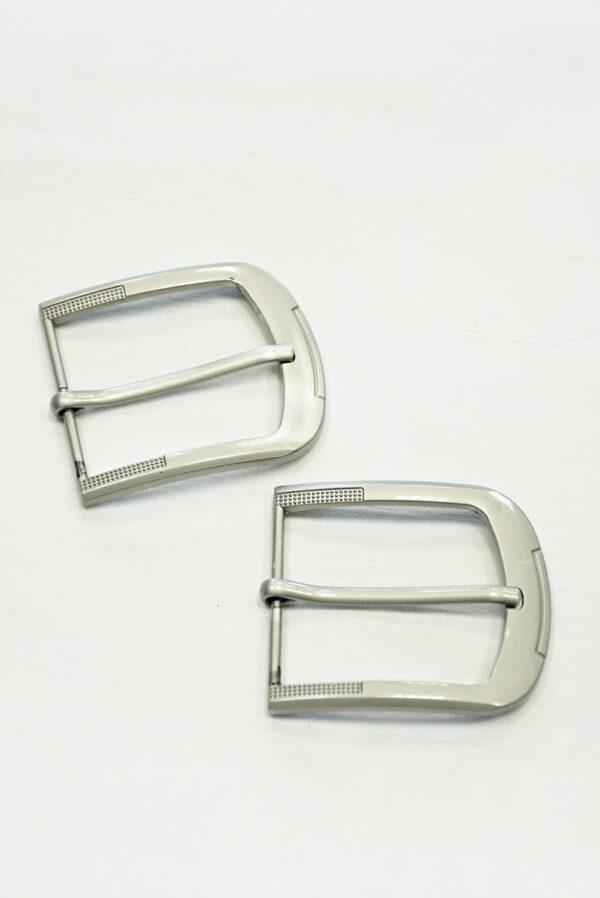 Пряжка прямоугольная металл серебро 3