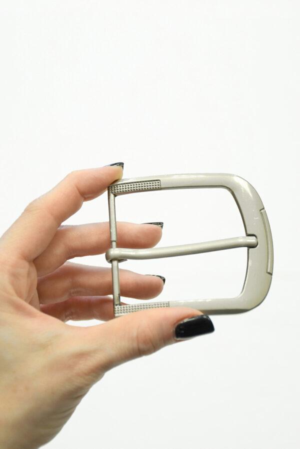 Пряжка прямоугольная металл серебро 1