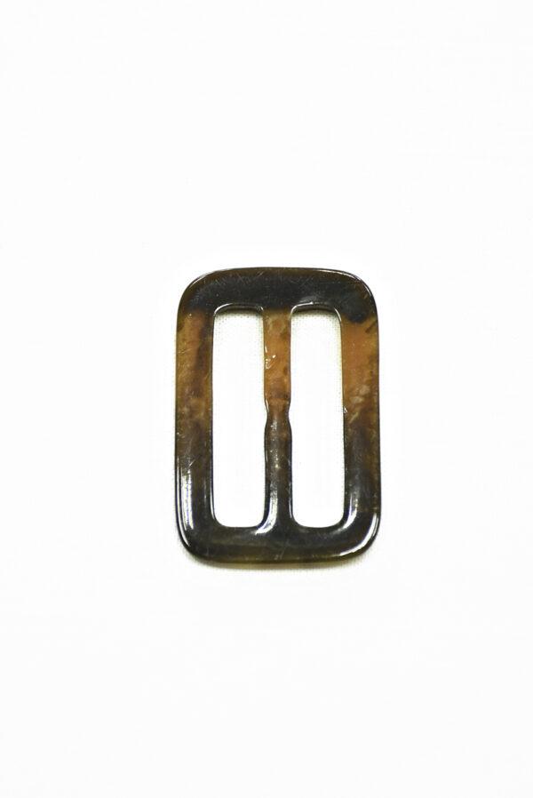 Пряжка пластиковая коричневая с бежевым прямоугольная 3