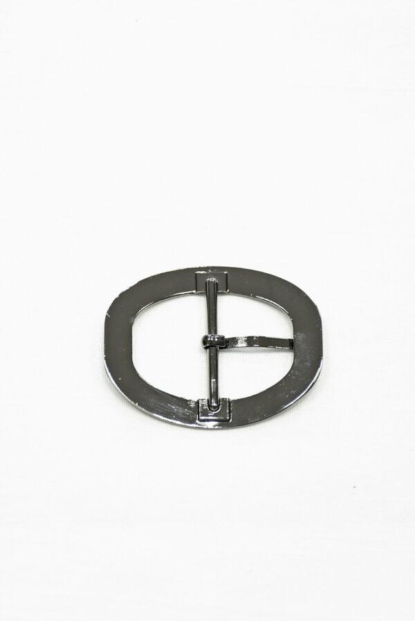 Пряжка овальная металл никель с язычком 3