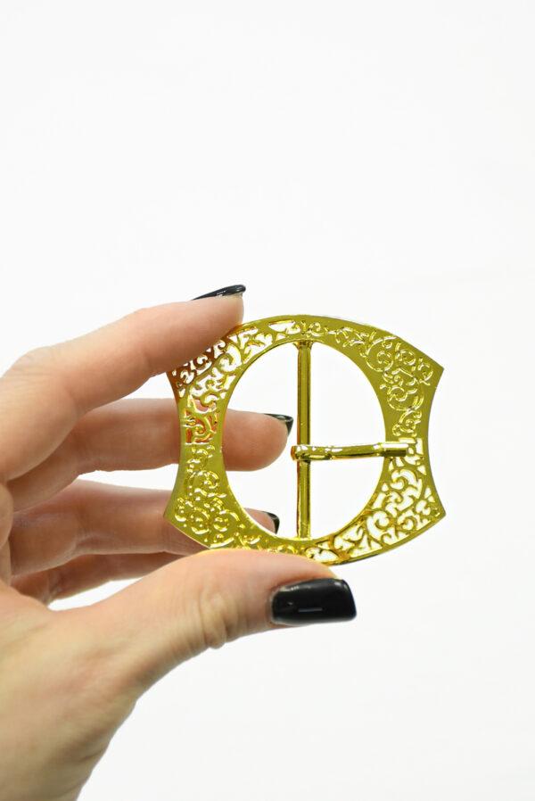 Пряжка металл ажурное золото 1