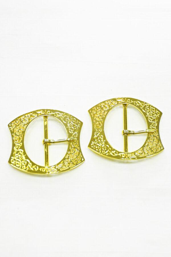 Пряжка металл ажурное золото 2