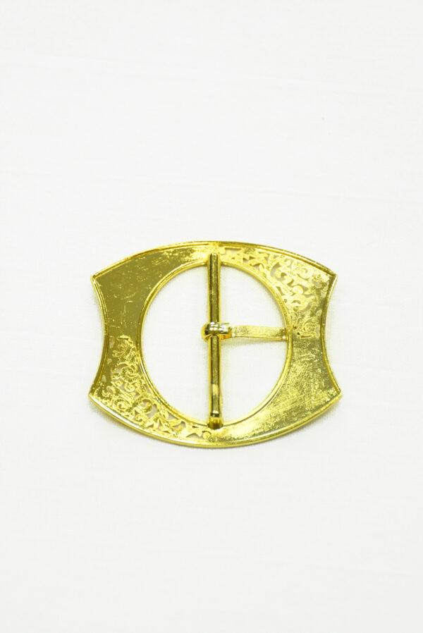 Пряжка металл ажурное золото 3