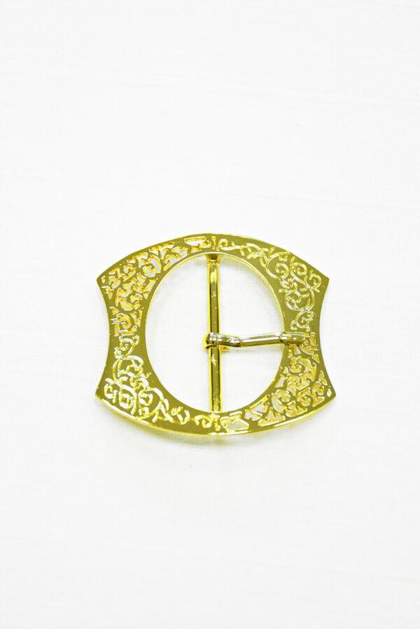Пряжка металл ажурное золото