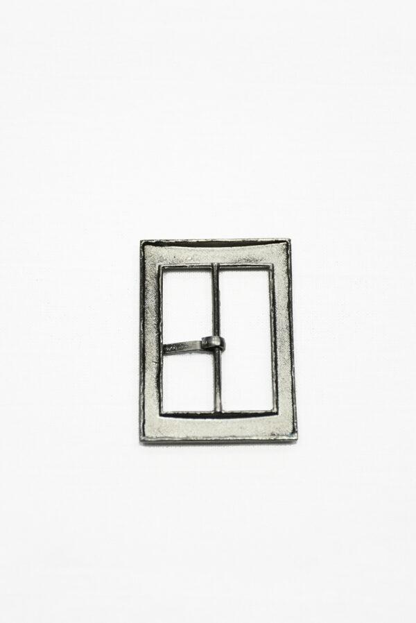Пряжка металл блэк никель прямоугольная с язычком 3