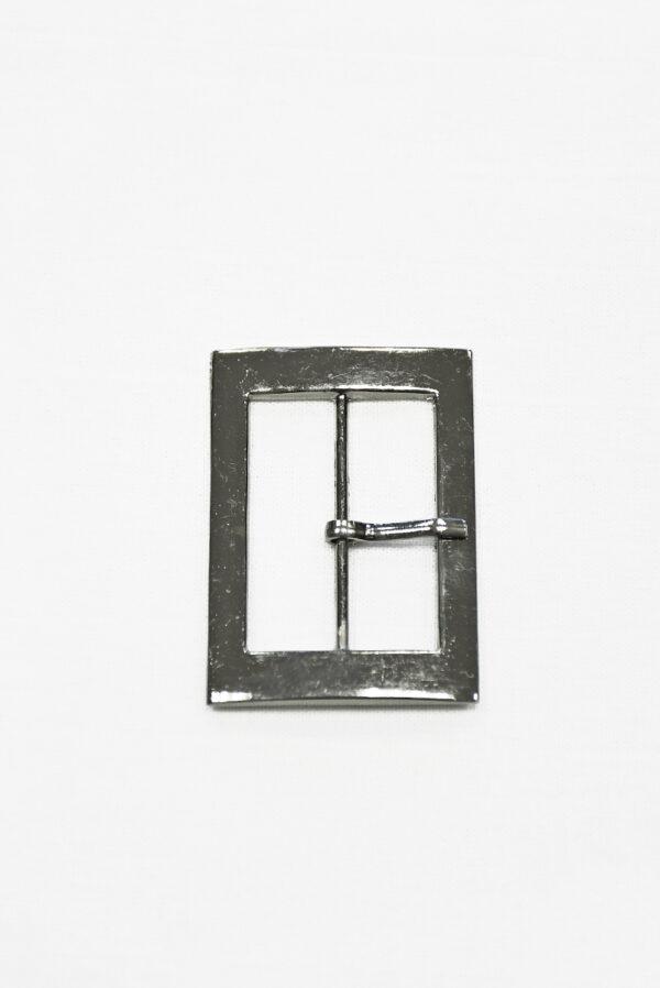 Пряжка металл блэк никель прямоугольная с язычком