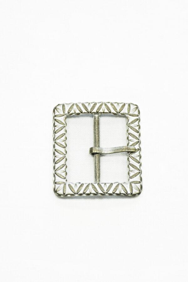 Пряжка прямоугольная металл латунь с белой эмалью