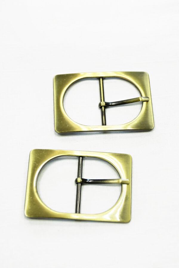 Пряжка металл латунь прямоугольная 2