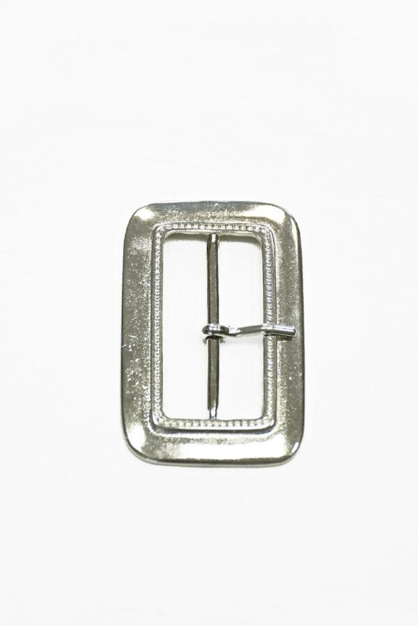 Пряжка металл серебро с одним язычком