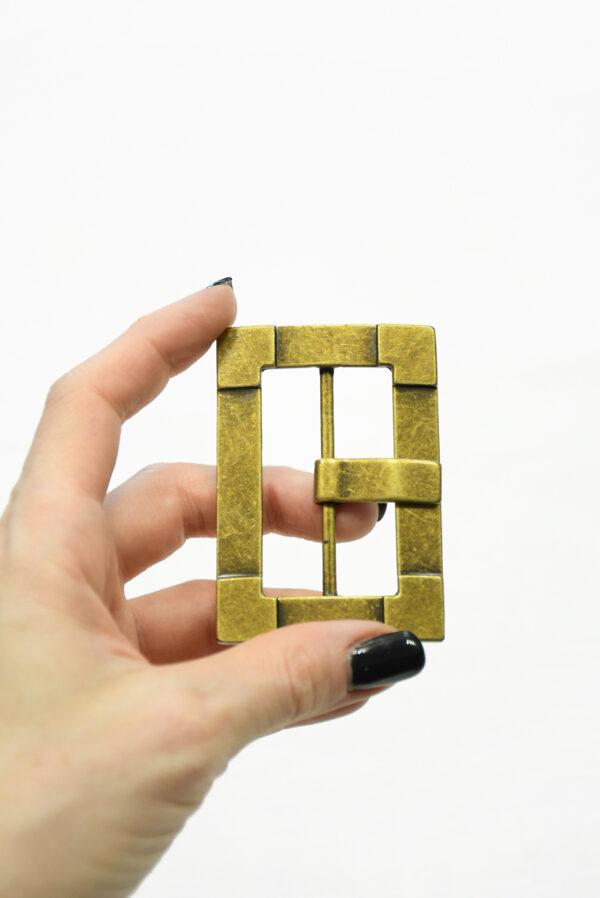 Пряжка металл латунь большая прямоугольная 1