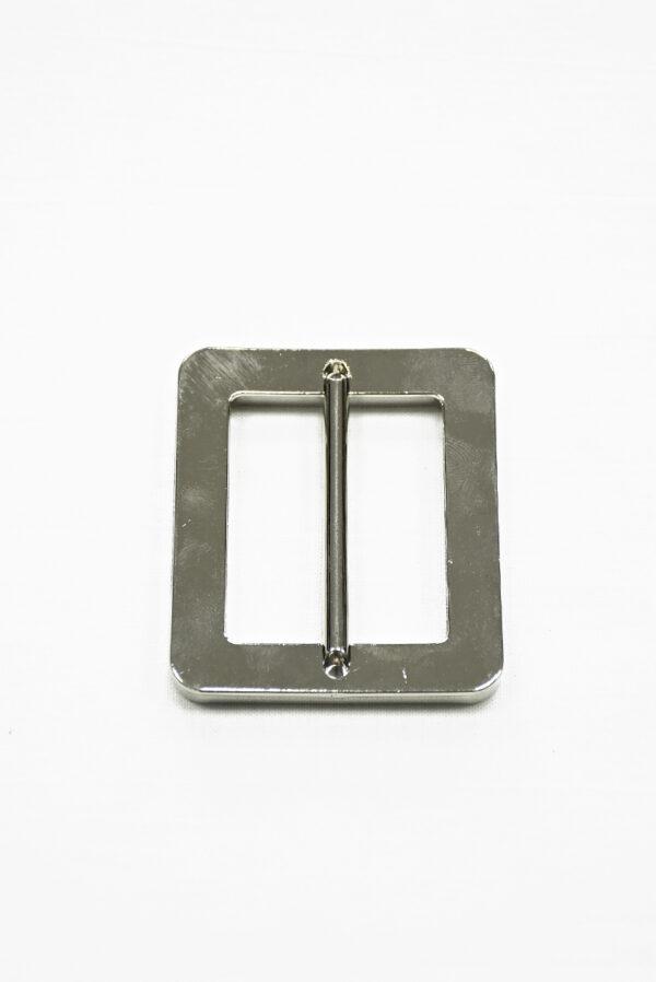 Пряжка металл серебро с черной эмалью 2