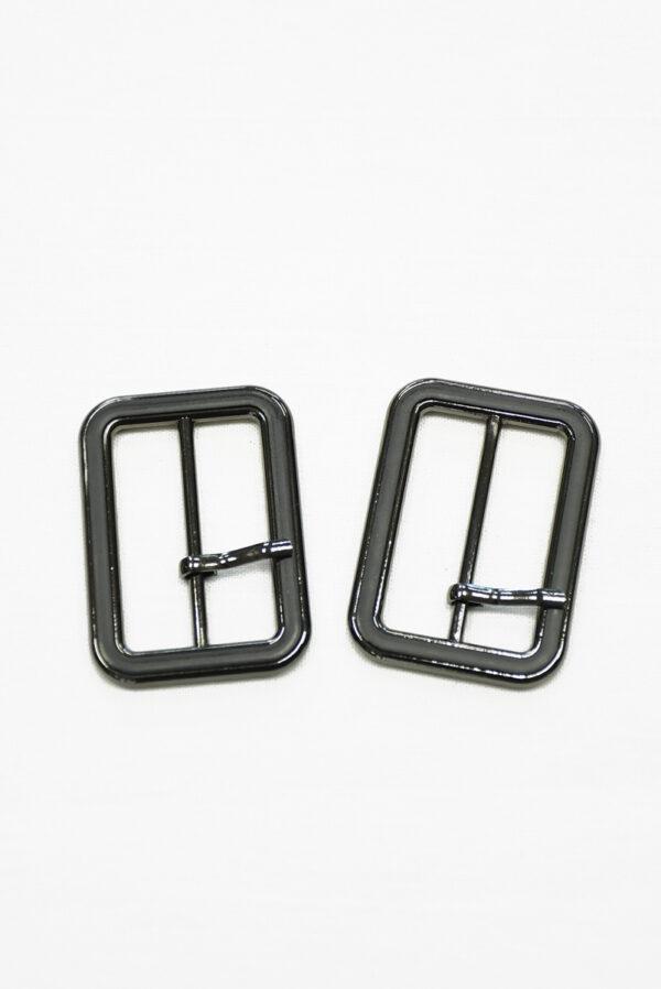Пряжка металл блэк никель с черной эмалью 2