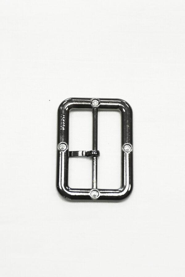 Пряжка металл блэк никель с черной эмалью 3