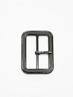 Пряжка металл блэк никель с черной эмалью