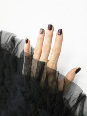 Сетка черная с рюшами (10298) - Фото 17