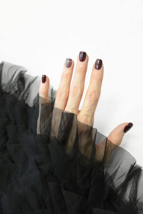Сетка черная с рюшами (10298) - Фото 7