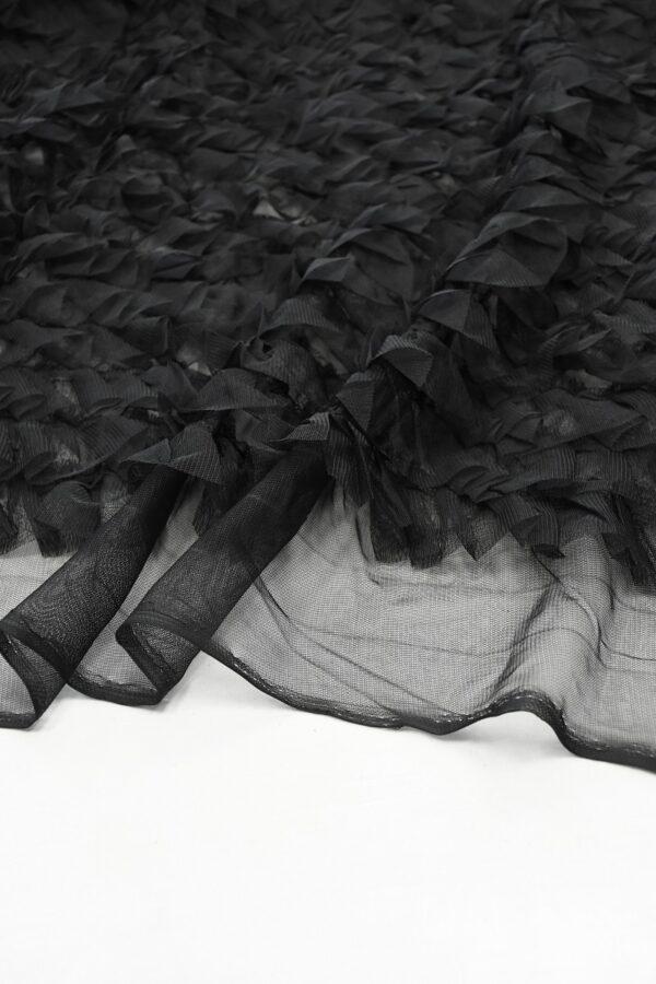 Сетка черная с рюшами (10298) - Фото 8