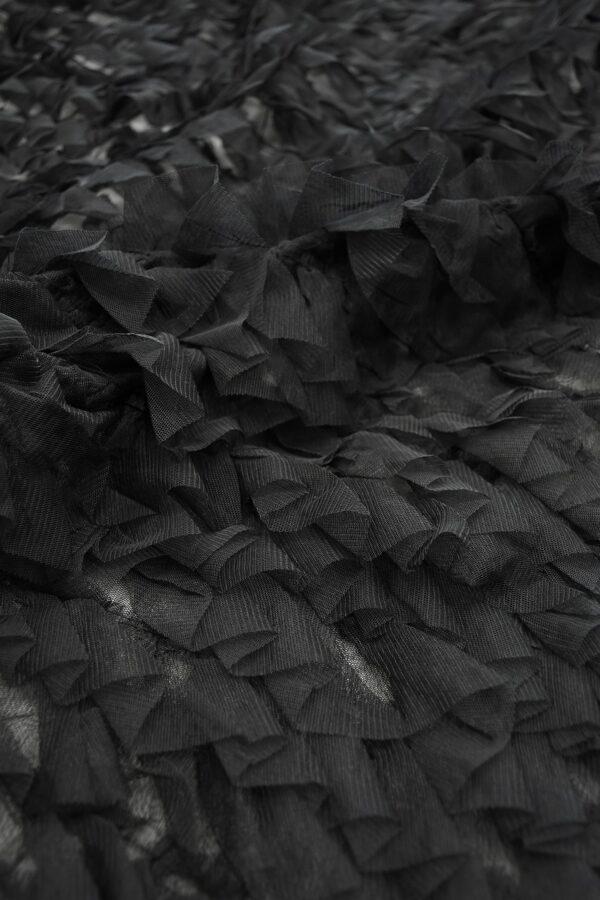 Сетка черная с рюшами (10298) - Фото 9