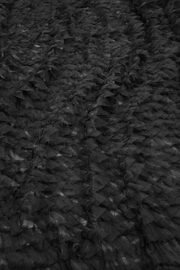 Сетка черная с рюшами (10298) - Фото 6