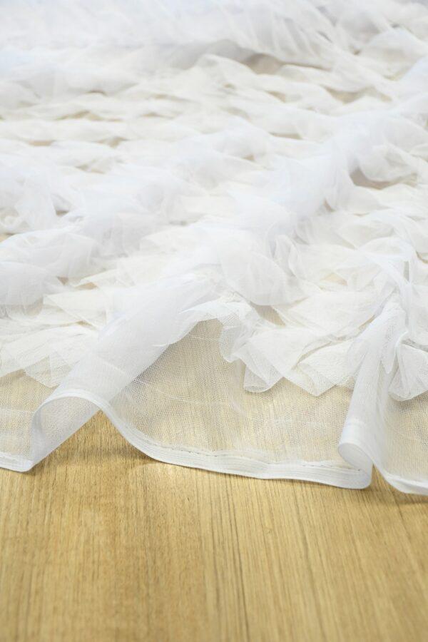 Сетка белая с рюшами (10301) - Фото 8