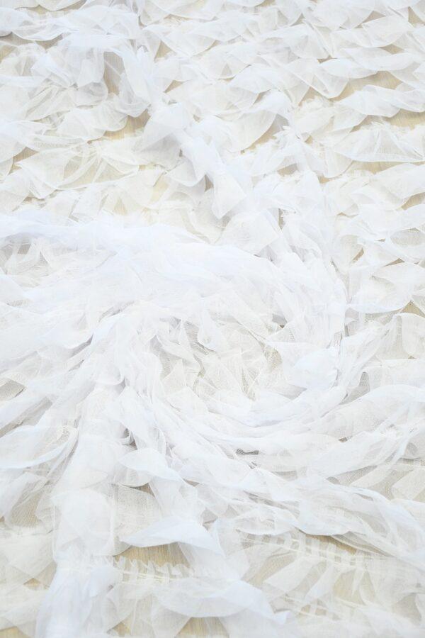 Сетка белая с рюшами (10301) - Фото 9