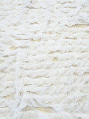 Сетка белая с рюшами (10301) - Фото 20