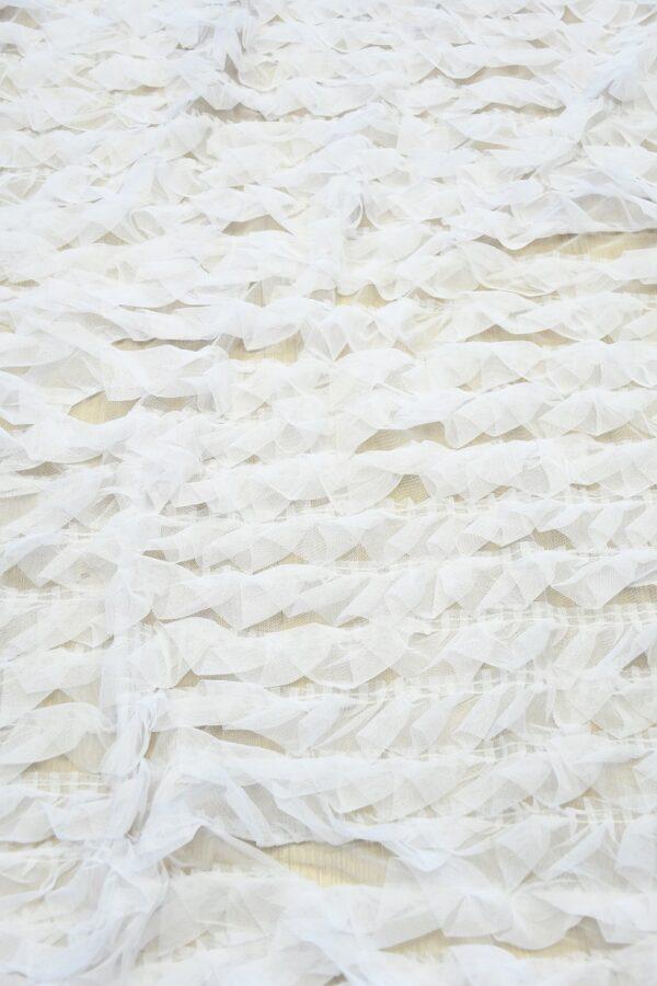 Сетка белая с рюшами (10301) - Фото 6