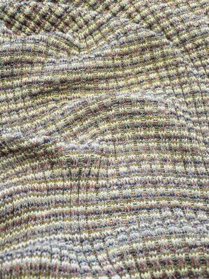 Трикотаж шерсть вязаный в разноцветную полоску (10302) - Фото 24
