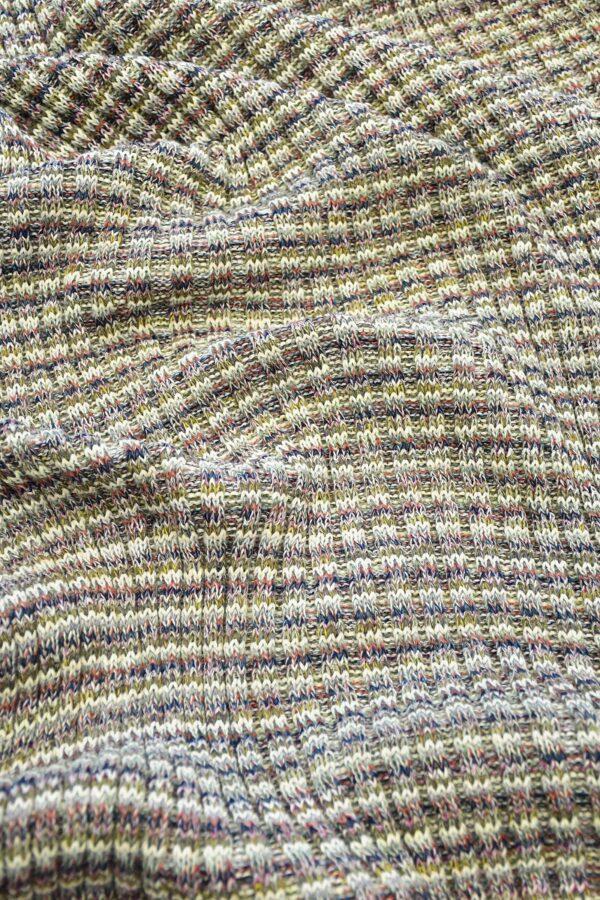 Трикотаж шерсть вязаный в разноцветную полоску (10302) - Фото 6