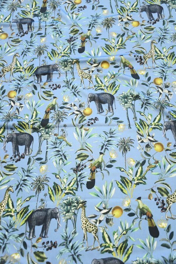 Штапель темно-голубой с животными (10319) - Фото 12