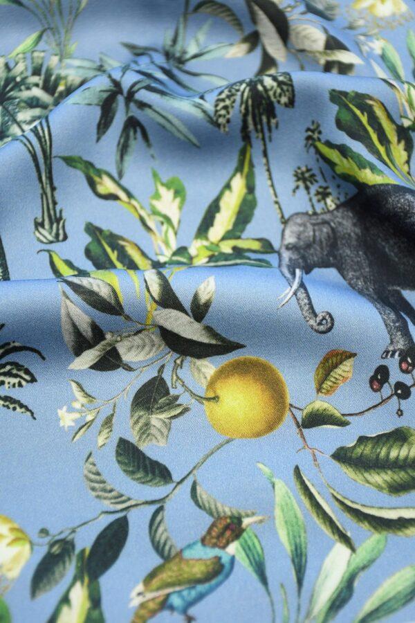 Штапель темно-голубой с животными (10319) - Фото 11