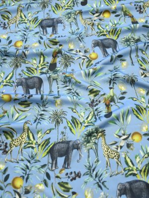 Штапель темно-голубой с животными (10319) - Фото 10