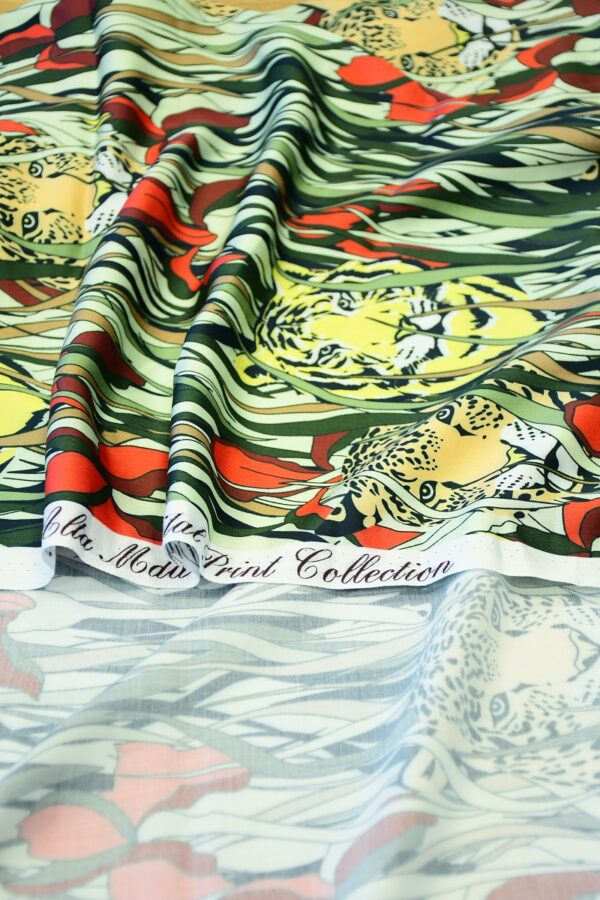 Штапель с леопардами и ирисами (10320) - Фото 9
