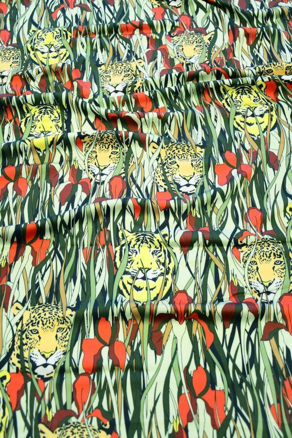 Штапель с леопардами и ирисами (10320) - Фото 6