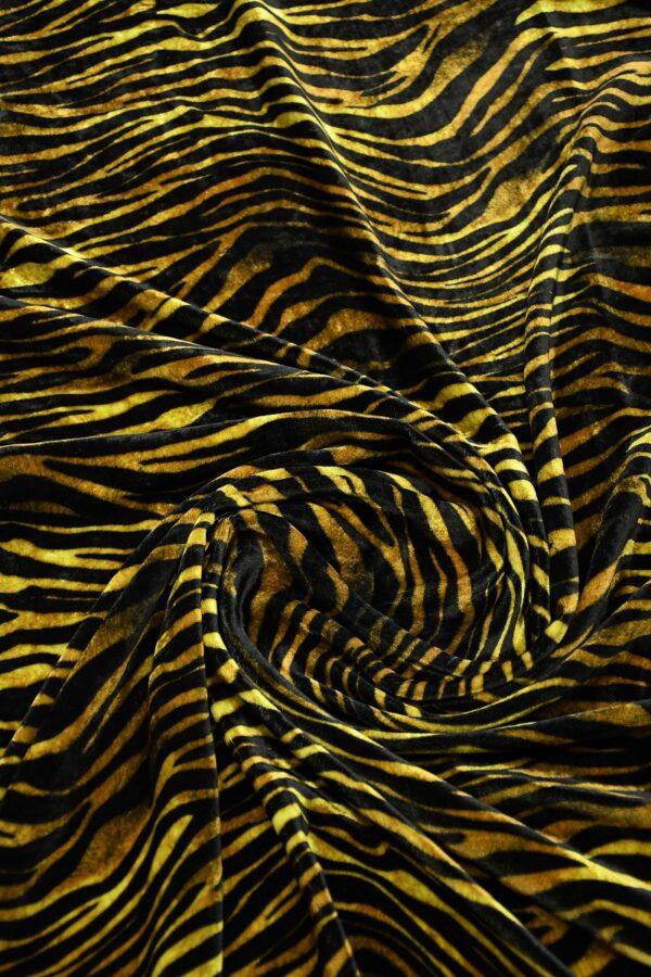 Бархат шелковый с тигровым узором 1