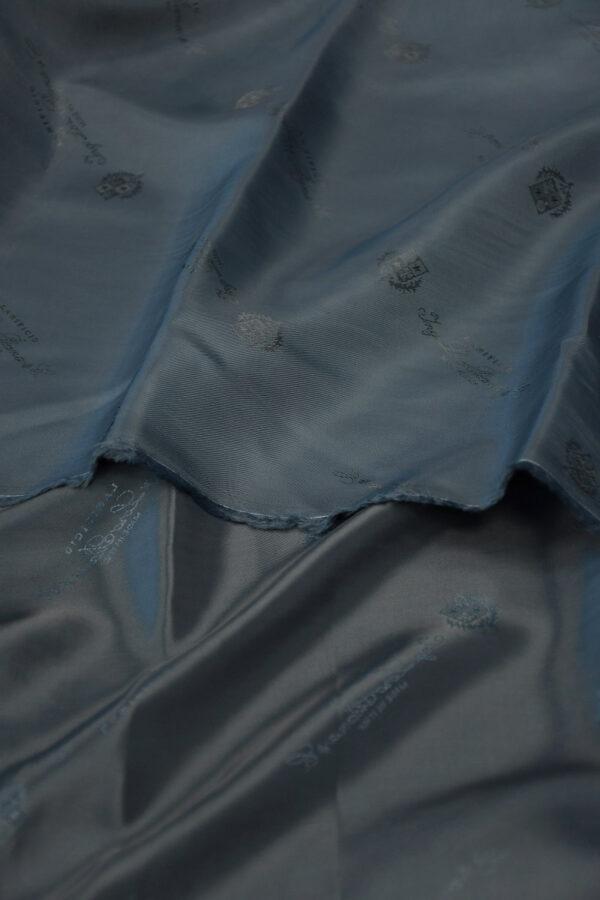 Подклад вискоза темно-синий с гербами и надписями 4