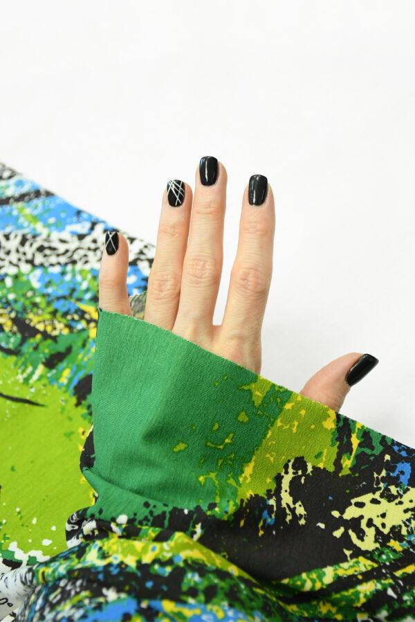 Трикотаж с абстрактными пальмовыми листьями 1