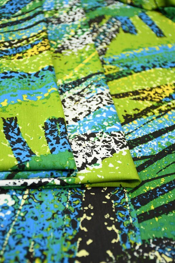 Трикотаж с абстрактными пальмовыми листьями 3