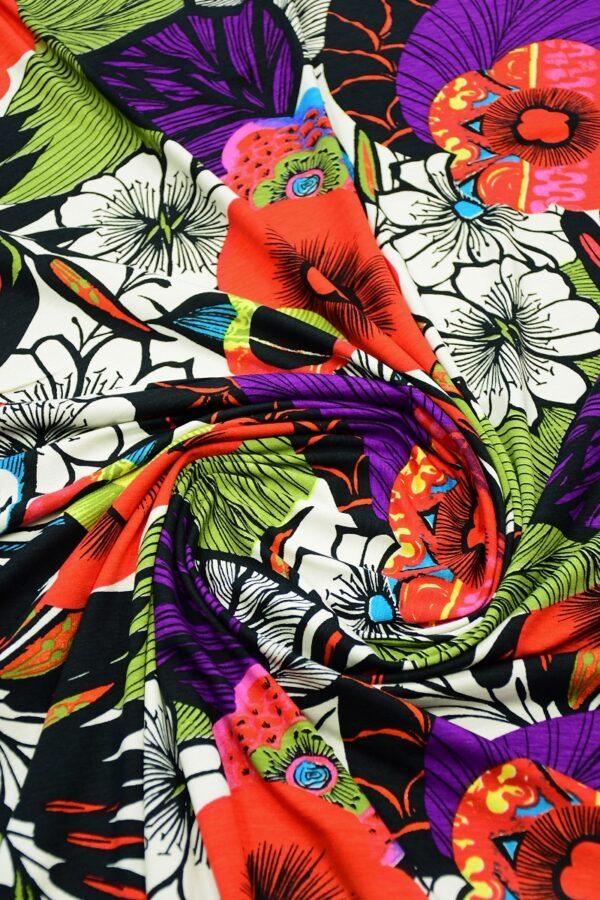 Трикотаж мультиколор с яркими цветами 2
