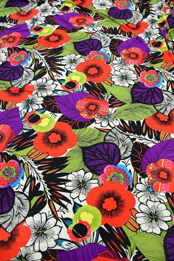 Трикотаж мультиколор с яркими цветами 5