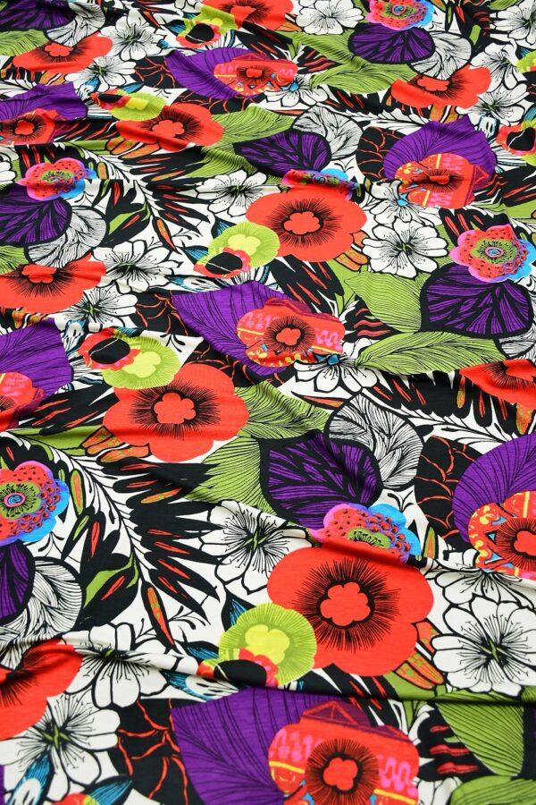 Трикотаж мультиколор с яркими цветами