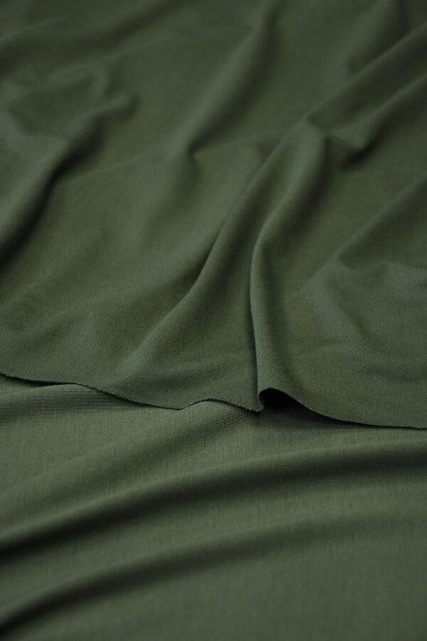 Трикотаж темно-зеленый 3