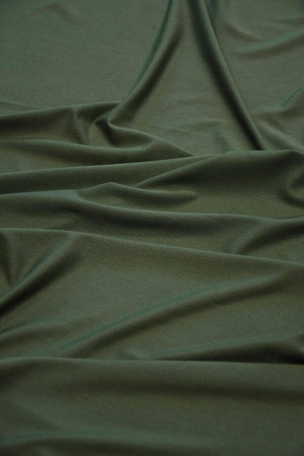 Трикотаж темно-зеленый